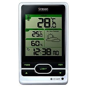 Oregon Scientic - Station météo sans fil avec horloge radio piloté - BAR206