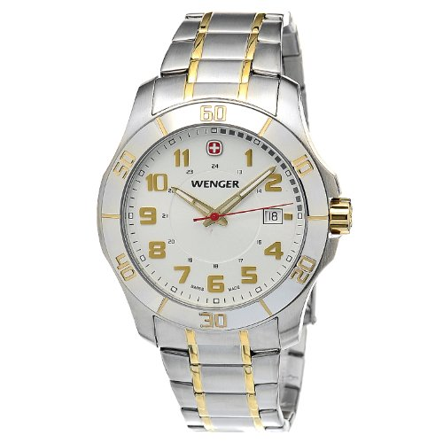 Wenger Mens Two Tone Swiss Made Watch W70477