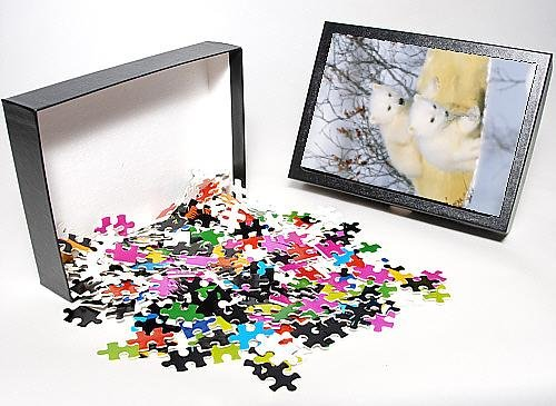 Photo Jigsaw Puzzle Of Polar Bear Cubs - On Mother front-1006898