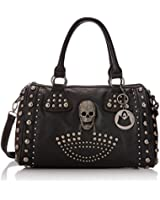 MG Collection Howea Gothic Studded Doctor Shoulder Bag