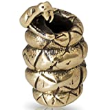 Paracord/Lanyard Bead in Brass for Jig Pro Shop by Russki Designs (Black Mamba Snake (Brass)) (Color: Black Mamba Snake (Brass), Tamaño: Predator)