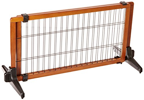 Carlson 68-Inch Wide Adjustable Freestanding Pet Gate, Premium Wood (Freestanding Pet Barrier compare prices)
