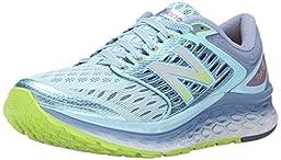 New Balance Women\'s W1080V6 Running Shoe, Blue/Grey, 7.5 B US