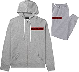 Kings Of NY Trust No One Sweat Suit Hoodie Sweatpants XX-Large Grey