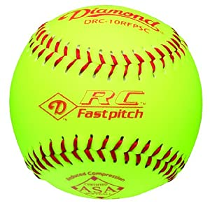 Buy Diamond Reduced Compression Fastpitch Softball, ASA Stamped, Dozen by Diamond Sports