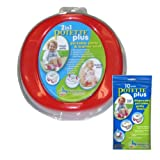 Potette Plus Travel Potty includes EXTRA 10-Pack of Liners(random color either BLUE, GREEN, or RED)