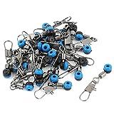 Plastic Beads Metal Fishing Line to Hook Swivels Tackle 20pcs Blue