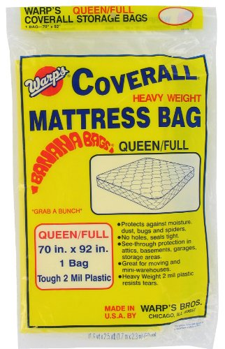 Review Of Warp Brothers CB-70 Banana Bags Mattress Bag for Queen or Full, 70-Inch by 92-Inch