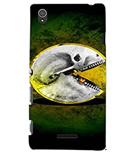SONY XPERIA T3 SKULL Back Cover by PRINTSWAG