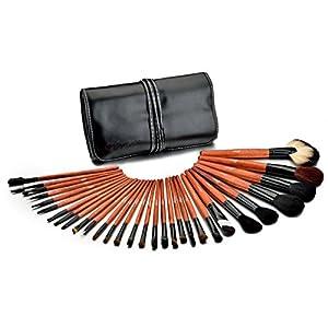 Glow 30teilig Profi Make-up Pinsel Lidschattenpinsel Rougepinsel Brush mit Etui Set