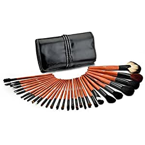 Glow 30 Piece Professional Makeup Brushes in Black Case