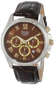 Pulsar Men's PT3397 Analog Display Japanese Quartz Brown Watch