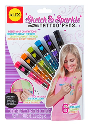 ALEX Toys Spa Sketch and Sparkle Tattoo Pens - 1