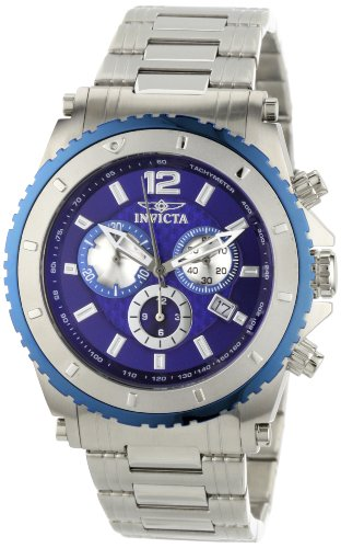 Invicta Men's 1009 II Chronograph Blue Dial Stainless Steel Watch