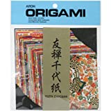 Aitoh Yuzen Washi Chiyogami Origami Paper, 4 by 4-Inch, 40-Pack
