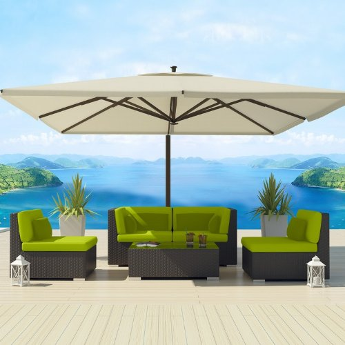 Uduka Outdoor Sectional Patio Furniture Espresso