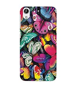 HTC DESIRE 626 BUTTERFIES Back Cover by PRINTSWAG