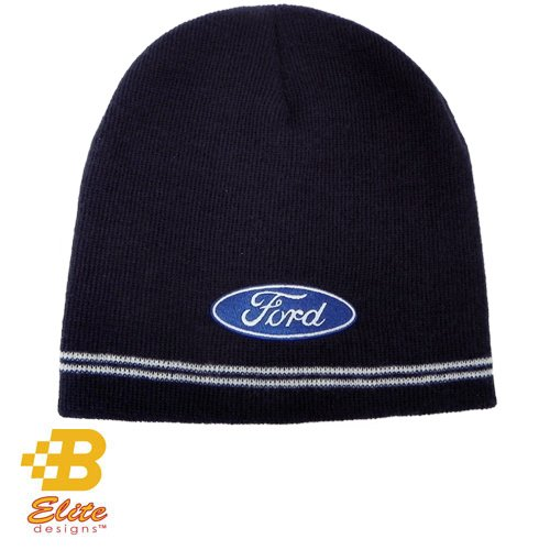 Ford Oval Navy Knitted Beanie