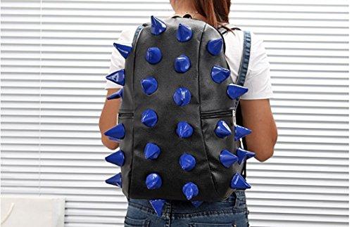 koson-man-luggage-spiketus-rex-fullpack-hedgehog-backpack-bagblue