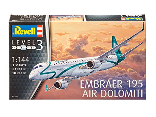 Revell-04884-Modellbausatz-Embraer-ERJ-195-im-Mastab-1144