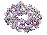 Yatim 13 Feet Silk Flowers Vine Decoration For Wedding Home Indoor Bouquet Garden Garland outside (Purple)