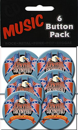 "C&D Visionary Lynyrd Skynyrd FlagEagle Button 1.5"" (6-Piece)"