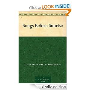Songs Before Sunrise Algernon Charles Swinburne