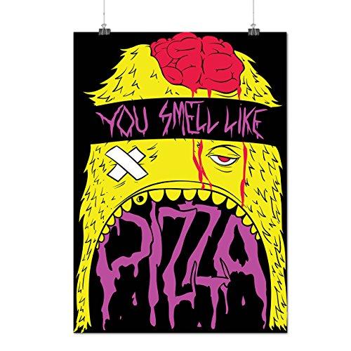 Odeur Pizza Zombi Mort Affamé Matte/Glacé Affiche A1 (84cm x 60cm) | Wellcoda