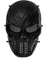 Masque de Protection Visage Tactique Armée pour BB Fusil Paintball Chasse NOIR
