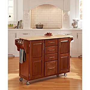 Home Styles 9100 1061 Create A Cart 9100 Series Cuisine Cart With Natural Wood Top
