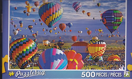 Puzzlebug 500 Piece Puzzle ~ Floating the Skies, Albuquerque Hot Air Balloon Fiesta - 1