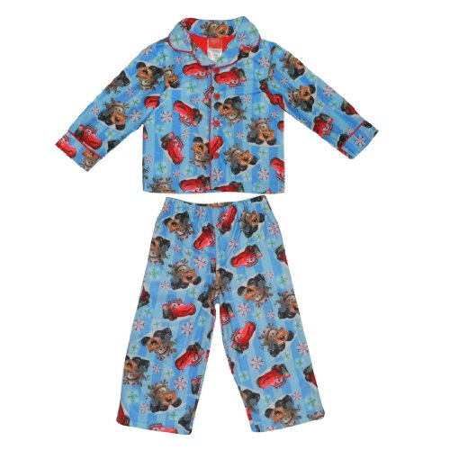 2 PCS SET: DISNEY CARS Boys Or Girls Fleece Sleepwear Pajama Top & Pants Set - Multicolor
