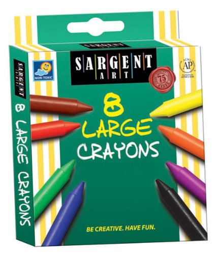 Sargent Art 35-0561 8-Count Large Crayon, Peggable front-1022161