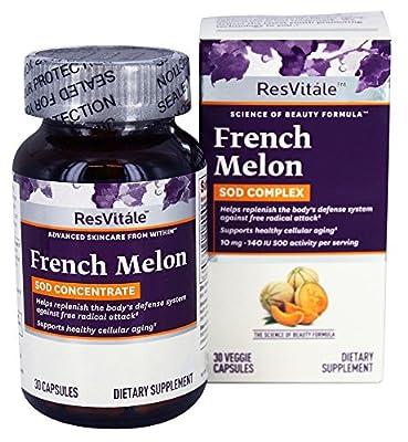 ResVitale - French Melon SOD Complex - 30 Vegetarian Capsules