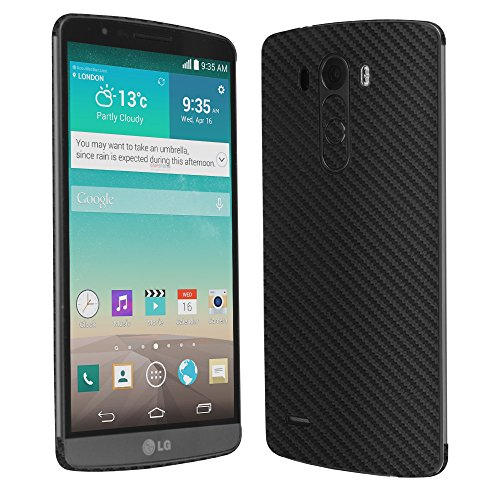 Skinomi® Techskin - Lg G3 Screen Protector + Carbon Fiber Full Body Skin Protector / Front & Back Premium Hd Clear Film / Ultra High Definition Invisible And Anti-Bubble Crystal Shield With Free Lifetime Replacement Warranty - Retail Packaging