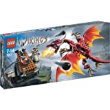 LEGO Vikings 7017 Viking Catapult Versus The Nidhogg Dragon
