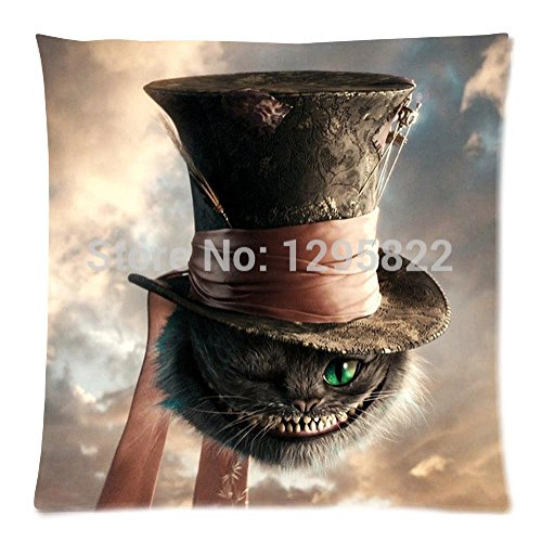 [Sea Love Alice in wonderland Zippered Pillow Cases Cover Cushion Case 18x18 (One side)(pc18-944)] (Alice In Wonderland Halloween Decorations)