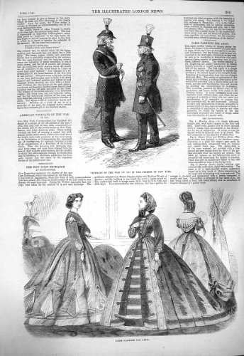 1865 Paris Fashion Veterans War Street New York America