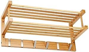 Zeller 13583 Wandgarderobe 60 x 24 x 24 cm, Bamboo