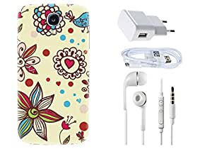 Spygen SAMSUNG GALAXY S4 Case Combo of Premium Quality Designer Printed 3D Lightweight Slim Matte Finish Hard Case Back Cover + Charger Adapter + High Speed Data Cable + Premium Quality Handfree