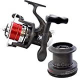 Surf Casting Fishing Reel Front Drag Pre Loaded with Line + Spare Spool .