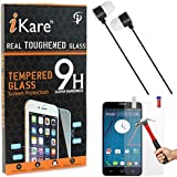 IKare Tempered Glass For Yu Yureka AO5510, Tempered Screen Protector For Yu Yureka AO5510 + Black Stereo Earphone With Mic