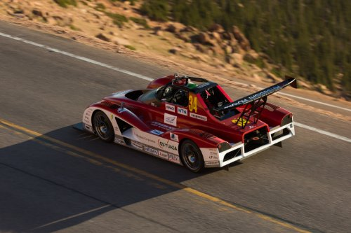 """Mitsubishi Miev Evolution Ii All Electric Pikes Peak (2013) Race Car Art Poster Print On 10 Mil Archival Satin Paper Red Rear Top Side View 36""""X24"""""""