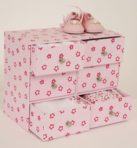Pink Chest of Drawers for Dolls and Bears Clothes.