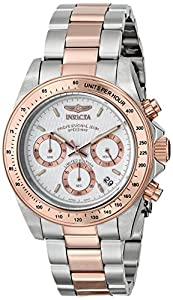 Invicta Men's ILE6932ASYB Speedway Analog Display Japanese Quartz Two Tone Watch