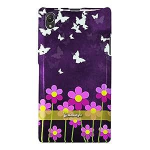 Butterflies Field Design Hard Back Case for Sony Xperia Z1