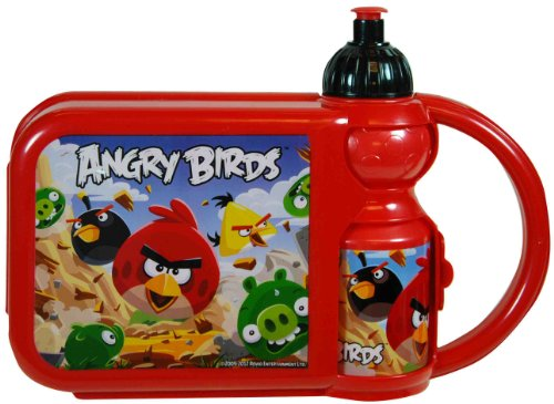 UPD Combo Lunch Box with Water Bottle, Angry Birds