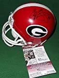 Champ Bailey AJ Green Aaron Murray Signed Georgia Bulldogs Mnin Helmet - JSA Certified - Autographed College Helmets