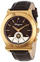 Salvatore Ferragamo Men's F62LDT5095 S497 1898 Quartz Dual Time Brown Croco-Print Calfskin Watch from Salvatore Ferragamo