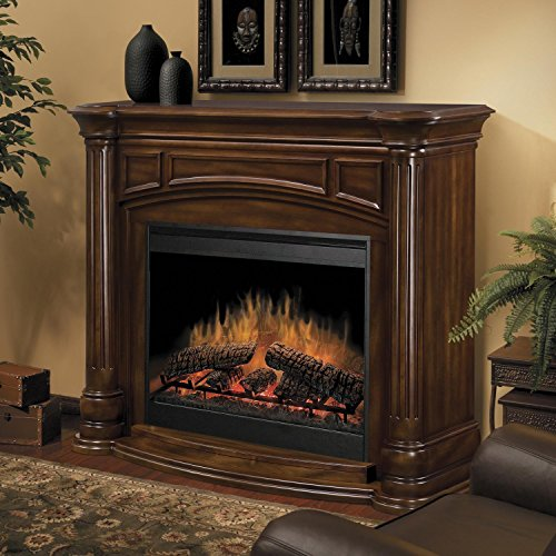 Dimplex Belvedere Electric Fireplace in Burnished Walnut